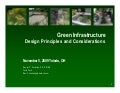 Green Infrastructure Design Principles and Considerations