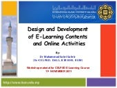 Design and development of e learnin...