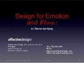 Design for Emotion and Flow