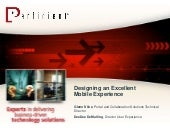 Designing an excellent mobile exper...