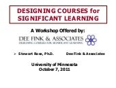 Designing courses for significant learning