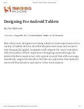 Designing for android tablets   sma...