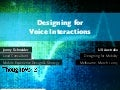 Designing for Voice Interactions (UXAustralia)