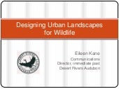 Designing urban landscapes for wild...