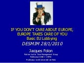 Intoduction to EU lobbying