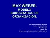Despues Max Weber