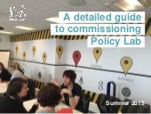 Detailed guide to working with and commissioning Policy Lab