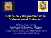 Deteccion de la diabetes en el emba...