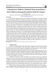 Determinants of children's nutritio...