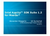 Intel AppUp™ SDK Suite 1.2 for MeeGo