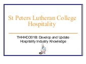 Develop and Update Hospitality Indu...