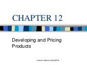 Developing and Pricing Products Leo...
