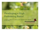 Developing a High Performing Board