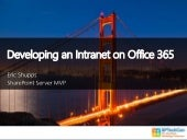 Intranet Development in Office 365