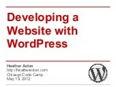 Developing a Website with WordPress