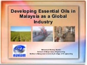 Developing essential oils in Malaysia