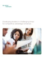 Developing leaders in challenging t...