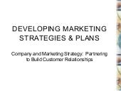 Developing Marketing Strategies and...