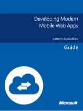 Developing modern mobile web apps