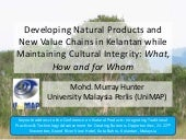 Developing natural products and new...