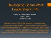 CSWE Social Work and Leadership