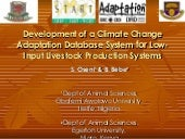 Development of a Climate Change Ada...