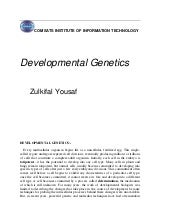 Developmental genetics
