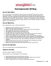 Developmental Writing Syllabus