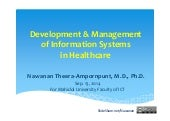 Development and Management of Information Systems in Healthcare