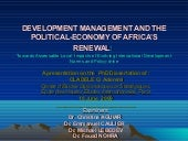 Development Management And The Poli...