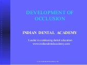 Development of occlusion /certified...