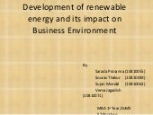 Development of renewable energy 55 ...