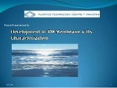 Development Of Ro Membrane & It...