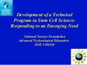 Development of a Technical Program ...