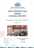 DEVELOPMENTS AND TRENDS IN ISRAELI EXPORT – 2012