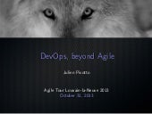 Devops, beyond agile