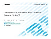 "DevOps in Practice: When does ""Practice"" Become ""Doing""?"