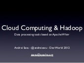 Cloud Computing & Apache Hadoop