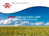 Deyu Agriculture Corp. video