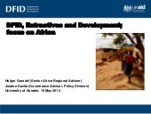 DfID, extractives and development, ...