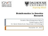 Bioinformatics in Gene Research