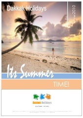 Dakkak Holidays  summer brochure new