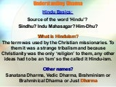 The role of Hindu Dharma & Our role...