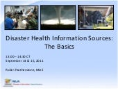Webinar - Disaster Health Informati...