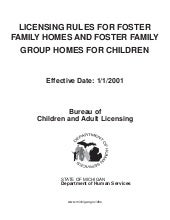 Licensing Rules for Foster Family H...