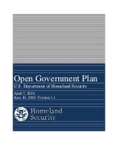 DHS Open Government Plan