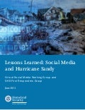 Lessons learned from Social media intervention during hurricane Sandy