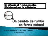 Diabetes, una propuesta natural