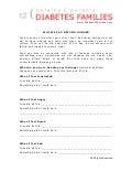 Diabetes Families Worksheets for Kids