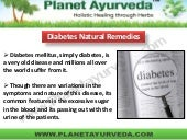 Diabetes natural remedies
